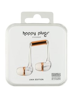 Happy Plugs UNIK EDITION Słuchawki white carrara marble