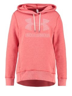 Under Armour FAVORITE Bluza z kapturem pomegranate light heather/white