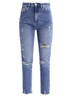 New Look LAURA Jeansy Slim fit mid blue