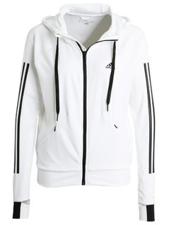 adidas Performance Bluza rozpinana white