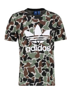 adidas Originals CAMO TREFOIL Tshirt z nadrukiem multi coloured