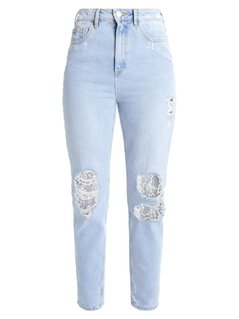 New Look Jeansy Relaxed fit pale blue