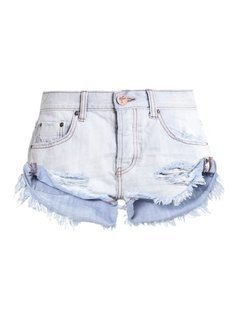 One Teaspoon HAMPTONS BANDITS Szorty jeansowe destroyed denim