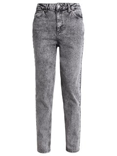 Topshop MOM Jeansy Relaxed fit grey