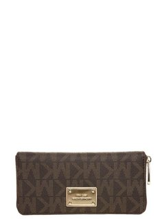 MICHAEL Michael Kors CONTINENTAL Portfel brown