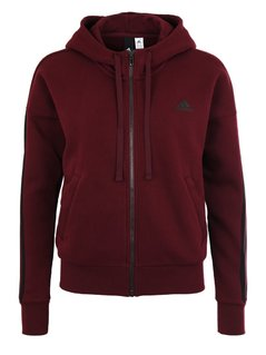 adidas Performance ESSENTIALS Bluza rozpinana maroon/black