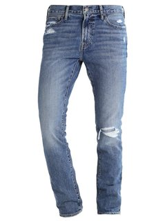 Abercrombie & Fitch Jeansy Slim fit destroyed denim