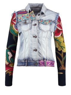 Desigual ETHNIC DELUXE Kurtka jeansowa denim medium wash