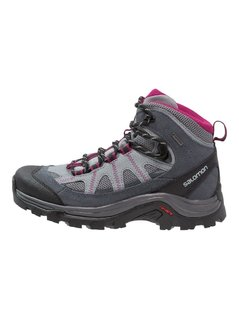 Salomon AUTHENTIC GTX Buty trekkingowe pearl grey/grey denim/mystic purple