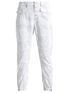 GStar ARMY ZIP TAPERED  Jeansy Relaxed fit white/light grey
