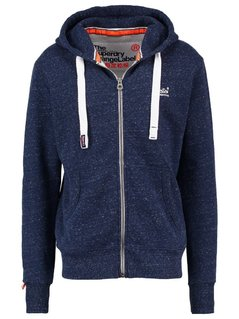 Superdry Bluza rozpinana channel navy grit