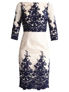 Chi Chi London Petite FAITH Sukienka koktajlowa ivory/navy