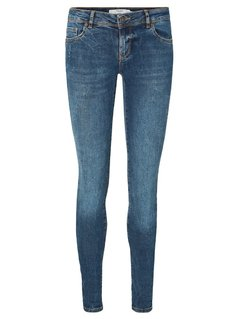 Vero Moda VMFIVE Jeans Skinny Fit dark blue denim