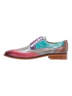 Melvin & Hamilton JEFF  Oksfordki rosa/morninggrey/light purple/turquoise/ash