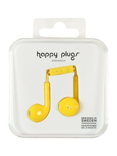 Happy Plugs PLUS DELUXE Słuchawki yellow