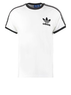 adidas Originals CALIFORNIA Tshirt z nadrukiem white/black