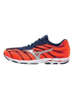 Mizuno WAVE HITOGAMI 3 Obuwie do biegania startowe fiery coral/glacier gray/blue depths