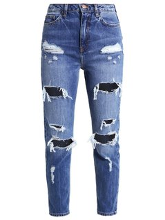 New Look MOM SAMBUCA Jeansy Relaxed fit mid blue