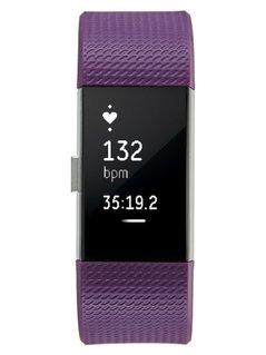 Fitbit CHARGE 2 Pulsometr plum/silvercoloured