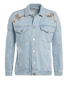 Noisy May NMKEL Kurtka jeansowa light blue denim