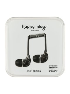 Happy Plugs UNIK EDITION Słuchawki black saint/laurent marble